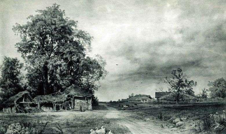 Описание картины Ивана Шишкина «Деревня»