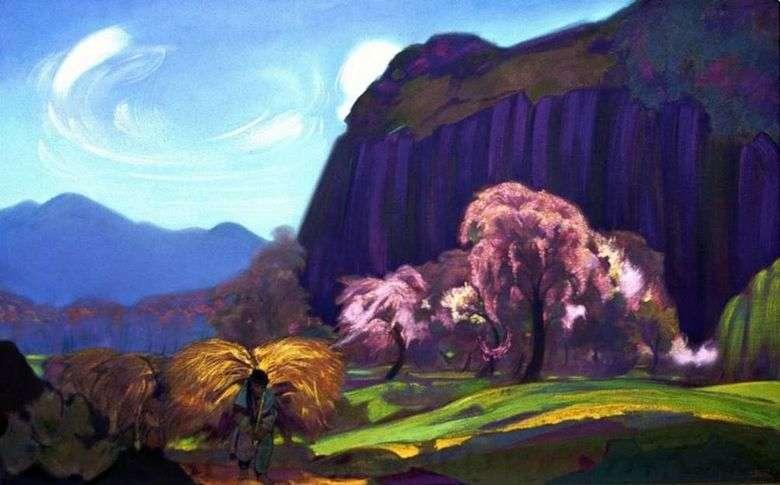 Описание картины Святослава Рериха «Пейзаж»
