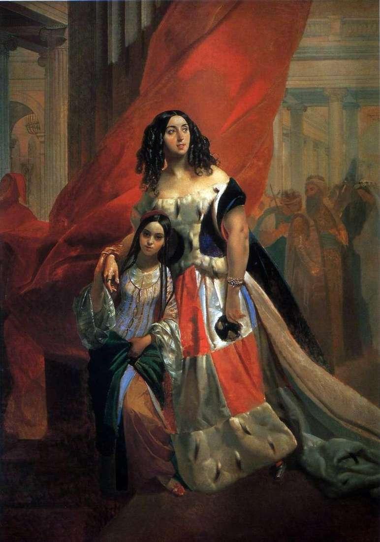 Описание картины Карла Брюллова «Портрет графини Самойловой»
