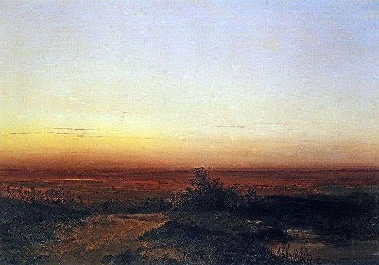 Описание картины Алексея Саврасова «Рассвет в степи»