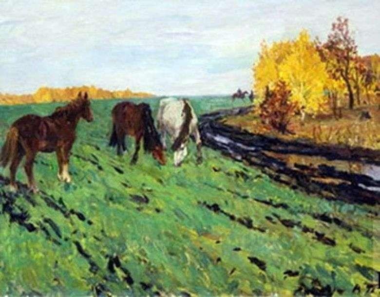 Описание картины Аркадия Пластова «Осень»