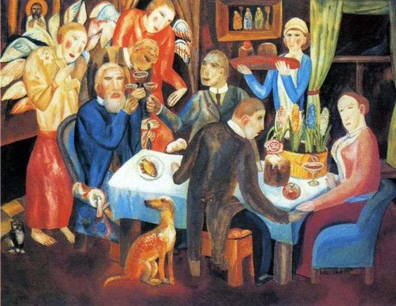 Описание картины Павла Филонова «Пасха»