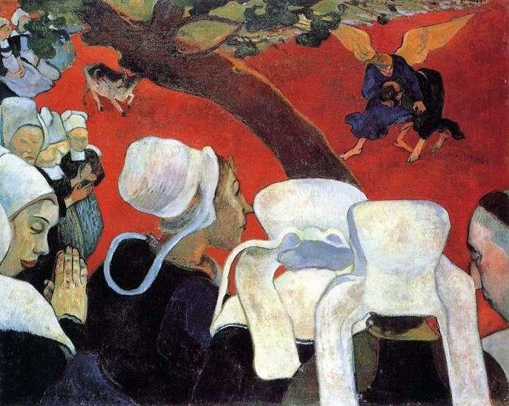 Описание картины Поля Гогена «Видение после проповеди»