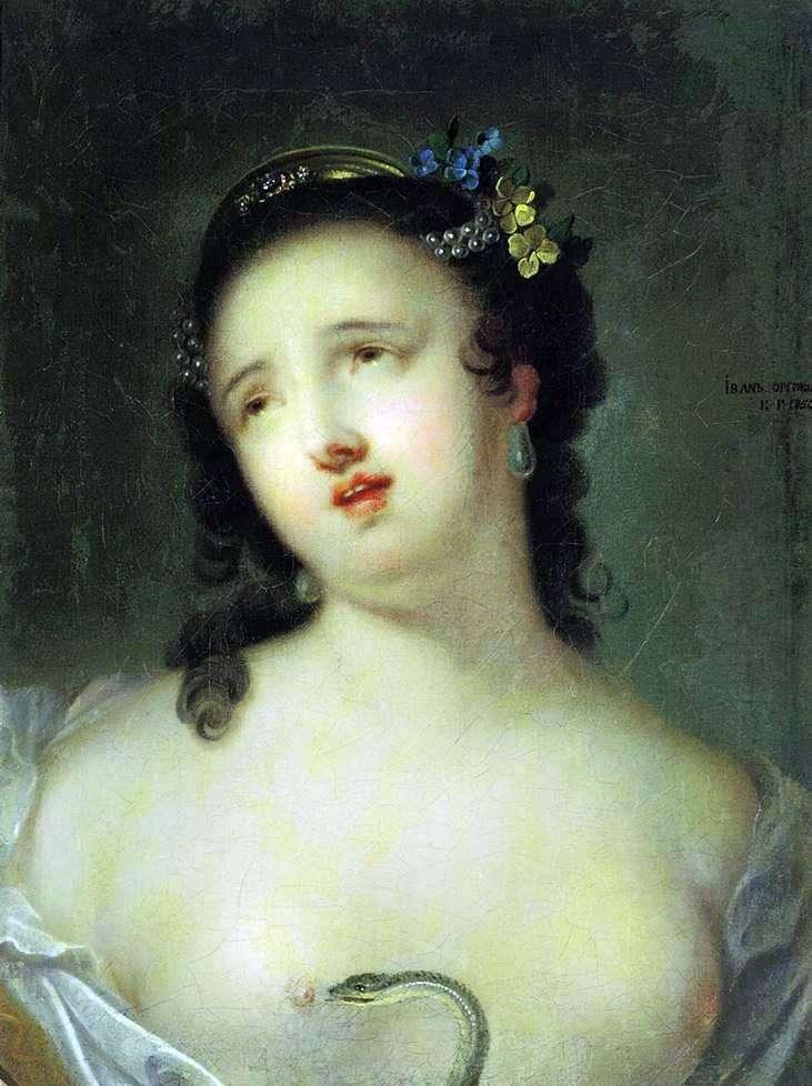 Описание картины Ивана Аргунова «Умирающая Клеопатра»