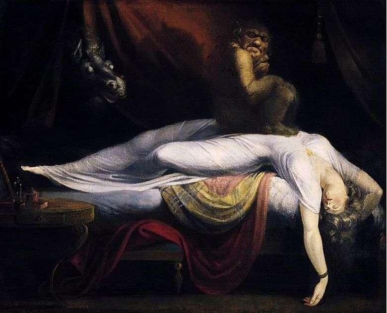 Описание картины Генри Фюссли «Ночной кошмар»