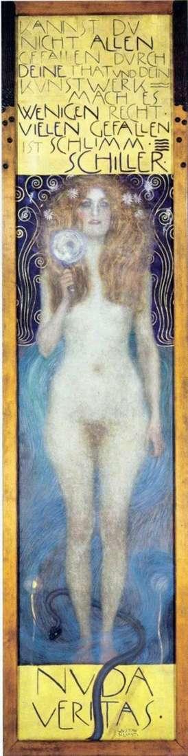 Описание картины Густава Климта «Обнаженная истина»
