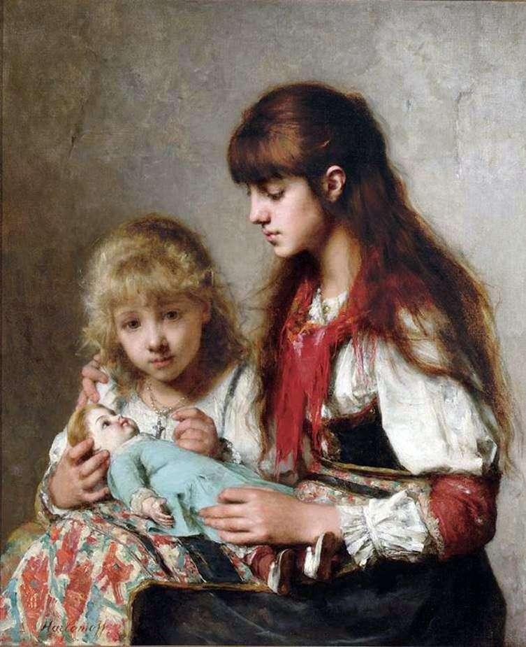 Описание картины Алексея Харламова «Сестры»