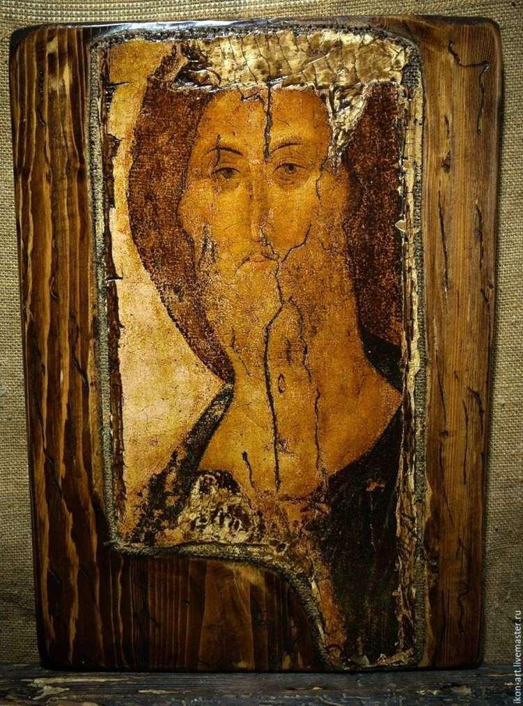 Описание иконы Андрея Рублева «Звенигородский чин. Лик Спасителя»