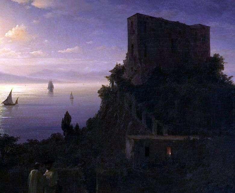 Описание картины Ивана Айвазовского «Неаполитанский залив в лунную ночь»