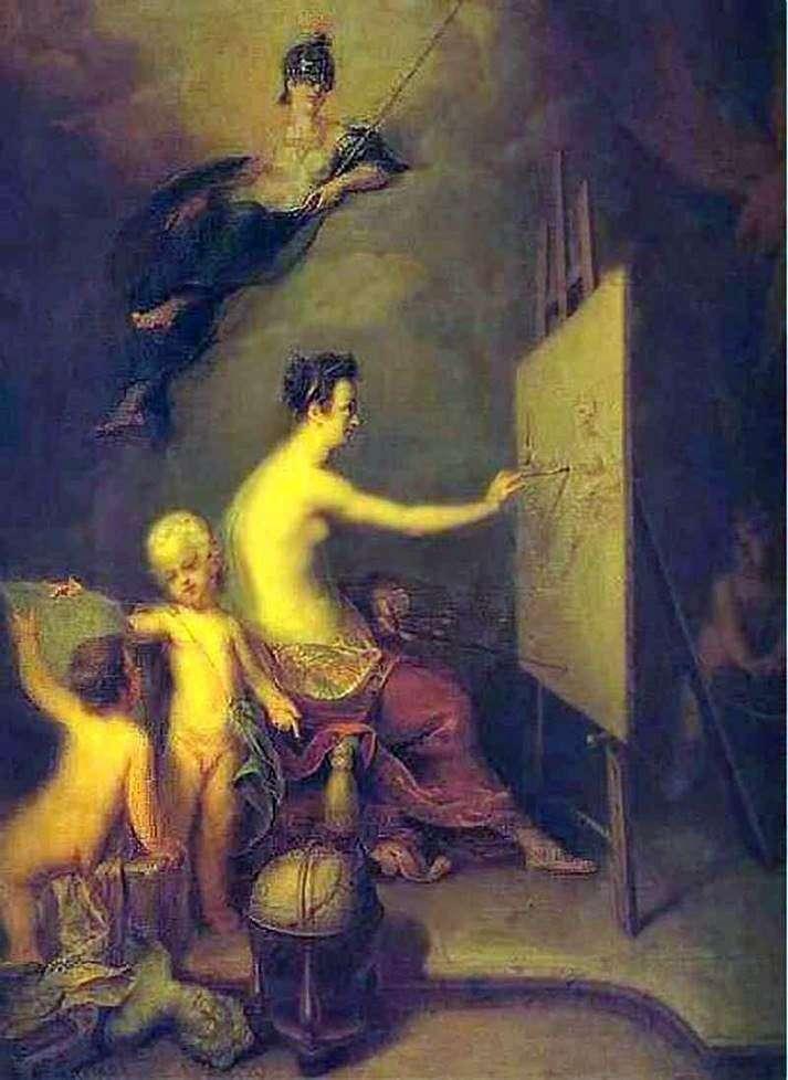 Описание картины Андрея Матвеева «Аллегория живописи»