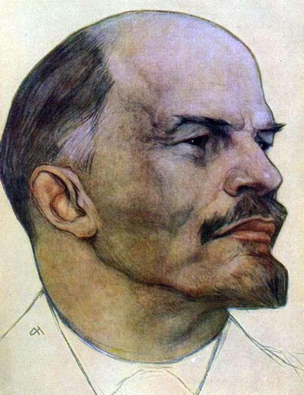 Описание картины Николая Андреева «В. И. Ленин»