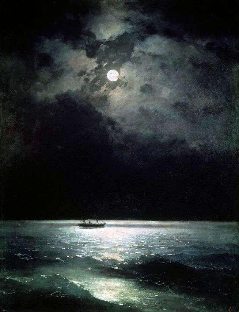 Описание картины Ивана Айвазовского «Черное море ночью»