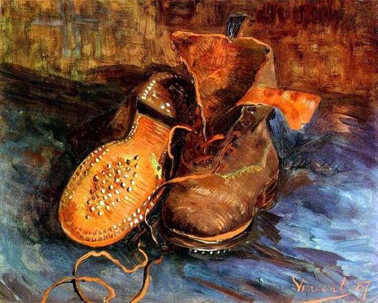 Описание картины Винсента Ван Гога «Пара ботинок»