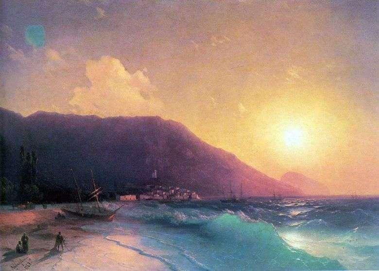 Описание картины Ивана Айвазовского «Морской вид»