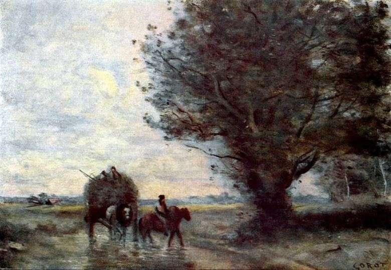 Описание картины Жана Батиста Коро «Воз сена»
