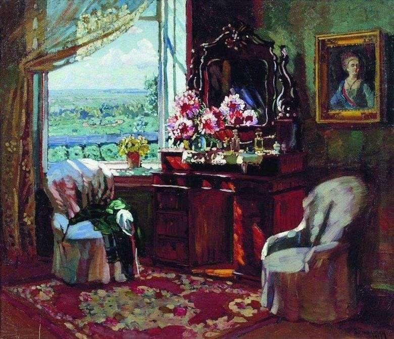 Описание картины Владимира Жуковского «Интерьер комнаты»