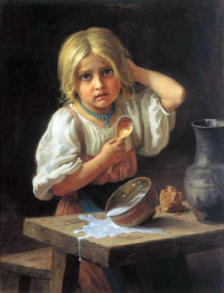 Описание картины Харитона Платонова «Крестьянская девочка»