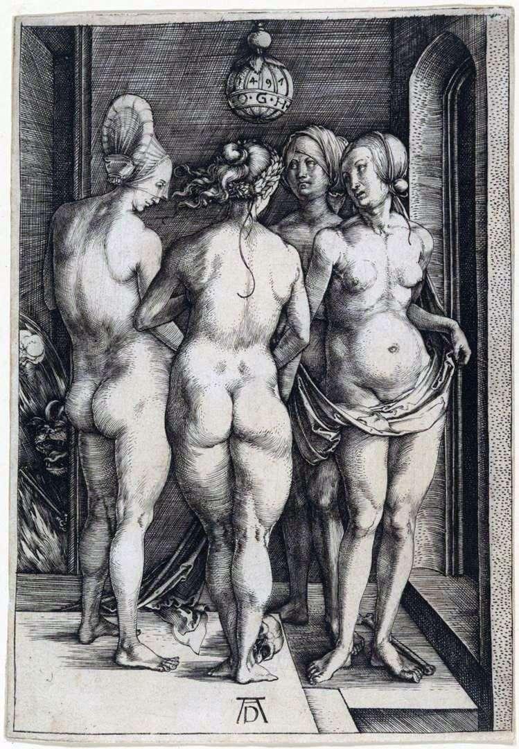 Описание картины Альбрехта Дюрера «Четыре ведьмы»