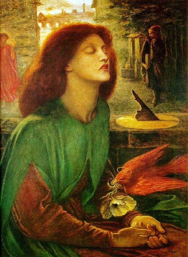 Описание картины Данте Россетти «Беатриче Благословенная»