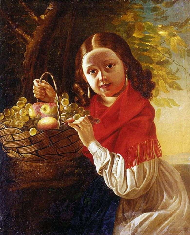 Описание картины Ивана Хруцкого «Девочка с фруктами»