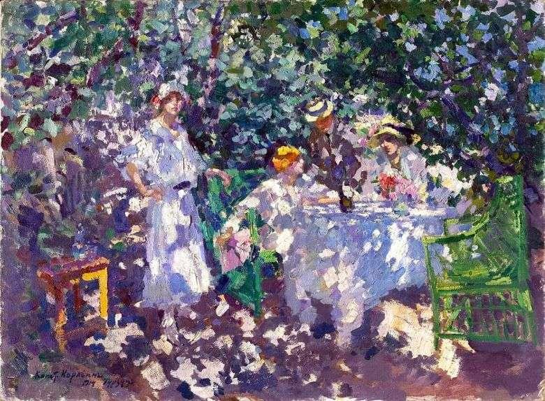 Описание картины Константина Коровина «В саду. Гурзуф»