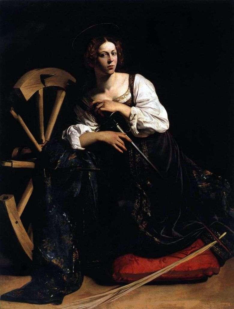 Описание картины Микеланджело Меризи да Караваджо «Святая Екатерина Алекcандрийcкая»