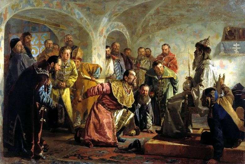 Описание картины Николая Неврева «Опричники»