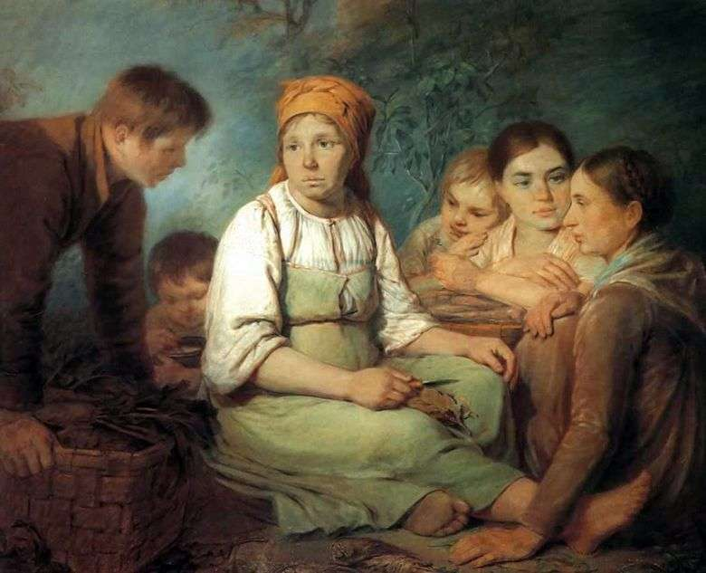 Описание картины Алексея Венецианова «Очищение свеклы»
