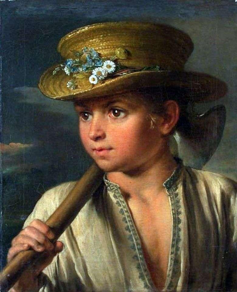Описание картины Василия Тропинина «Крестьянский мальчик с топориком»