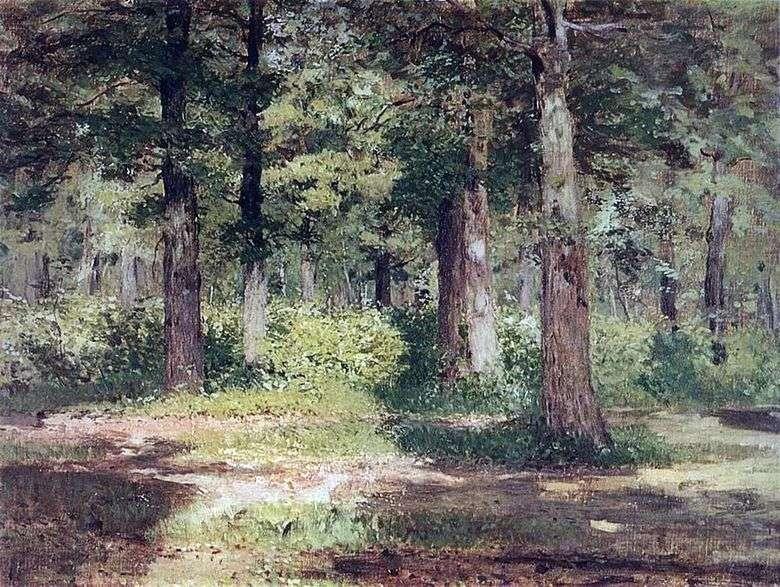 Описание картины Исаака Левитана «Лес. Солнечный день»