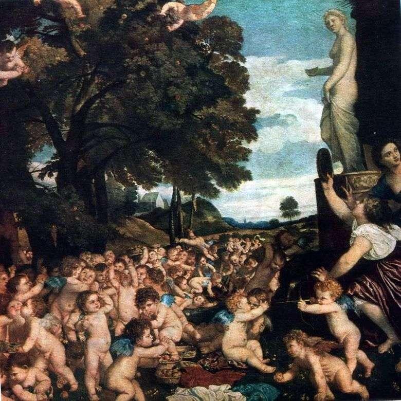 Описание картины Тициана Вечеллио «Праздник Венеры»