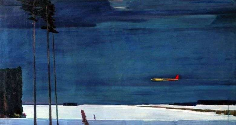 Описание картины Георгия Нисского «Над снегами»