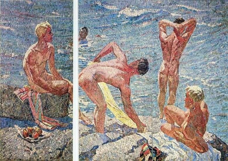 Описание мозаики Александра Дейнека «Хорошее утро»