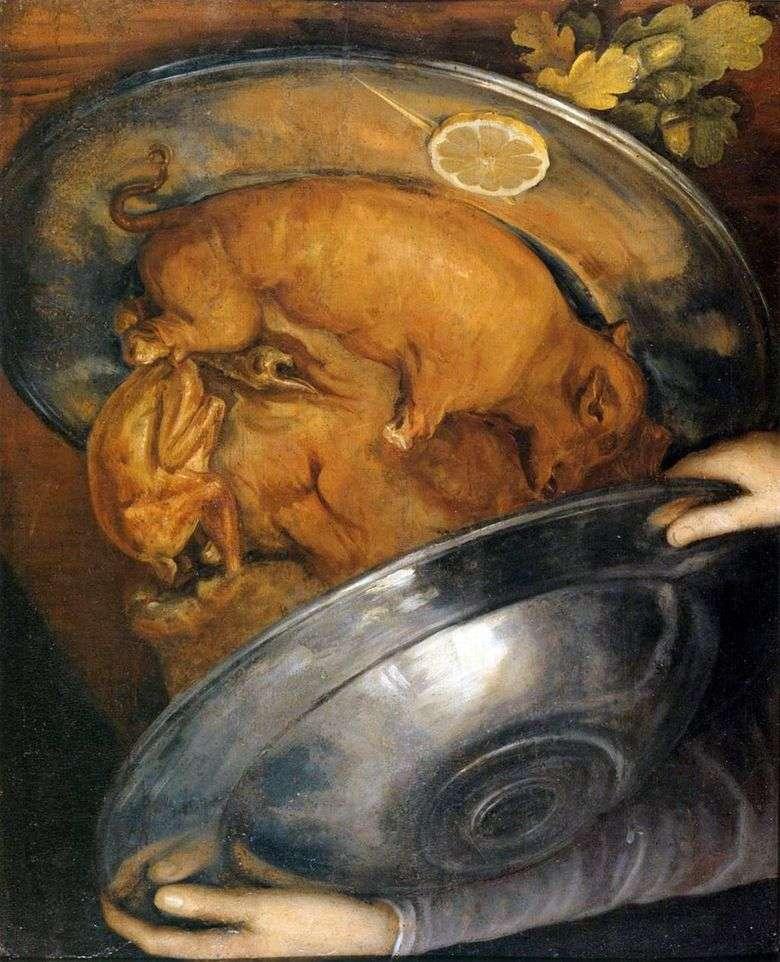 Описание картины Джузеппе Арчимбольдо «Повар»