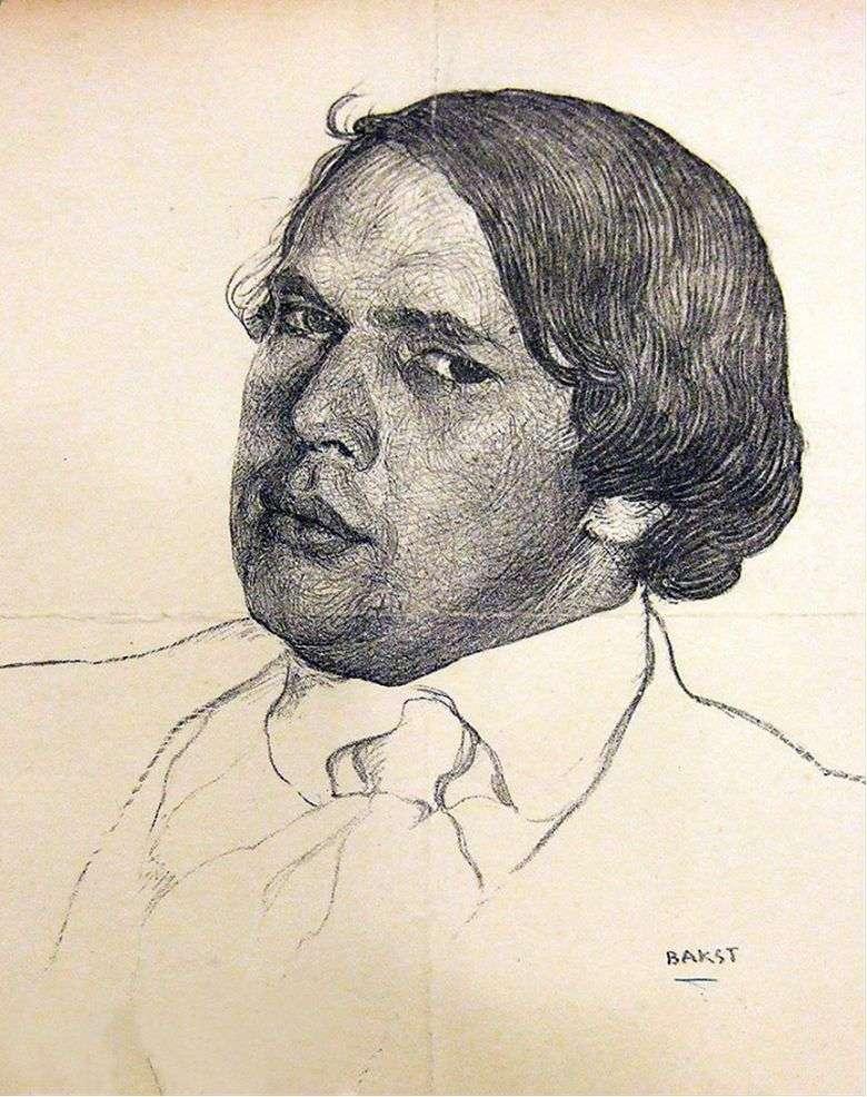 Описание картины Леона (Льва) Бакста «Портрет Алексея Толстого»