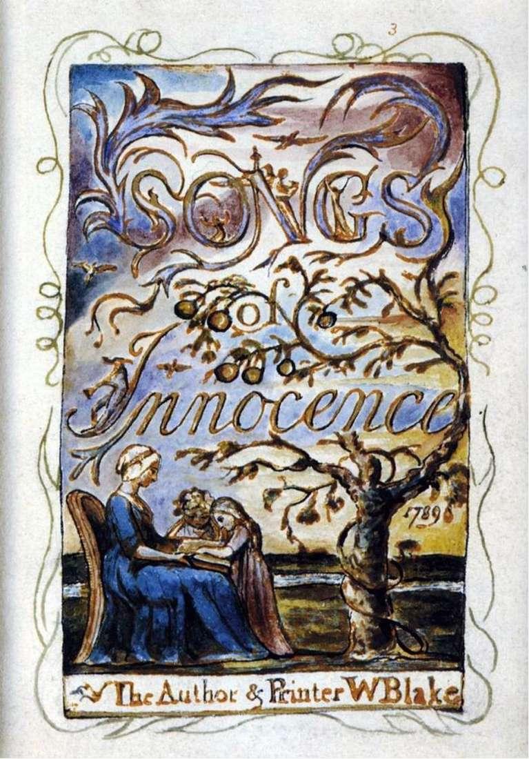 Описание картины Уильяма Блейка «Песни Невинности»