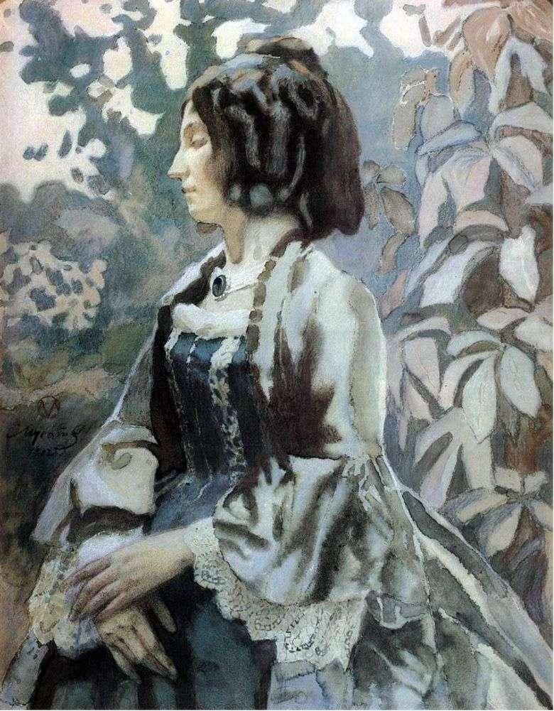 Описание картины Виктора Эльпидифоровича Борисова Мусатова «Дама в голубом»
