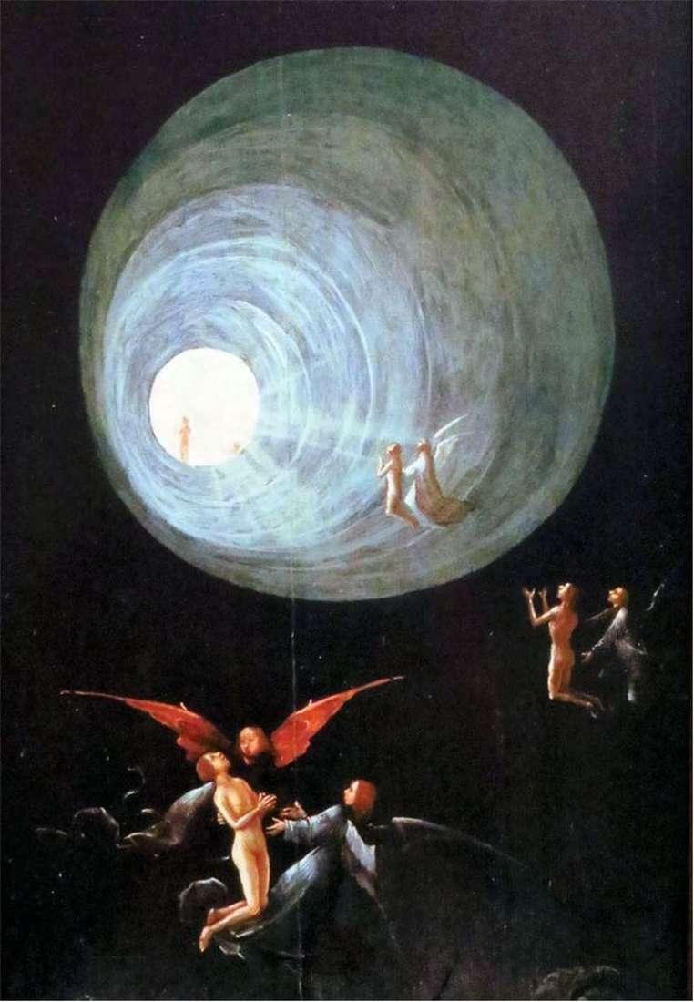 Описание картины Иеронима Босха «Вознесение праведников»