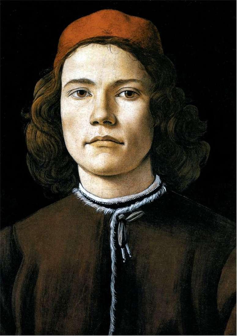 Описание картины Сандро Боттичелли «Портрет молодого человека»