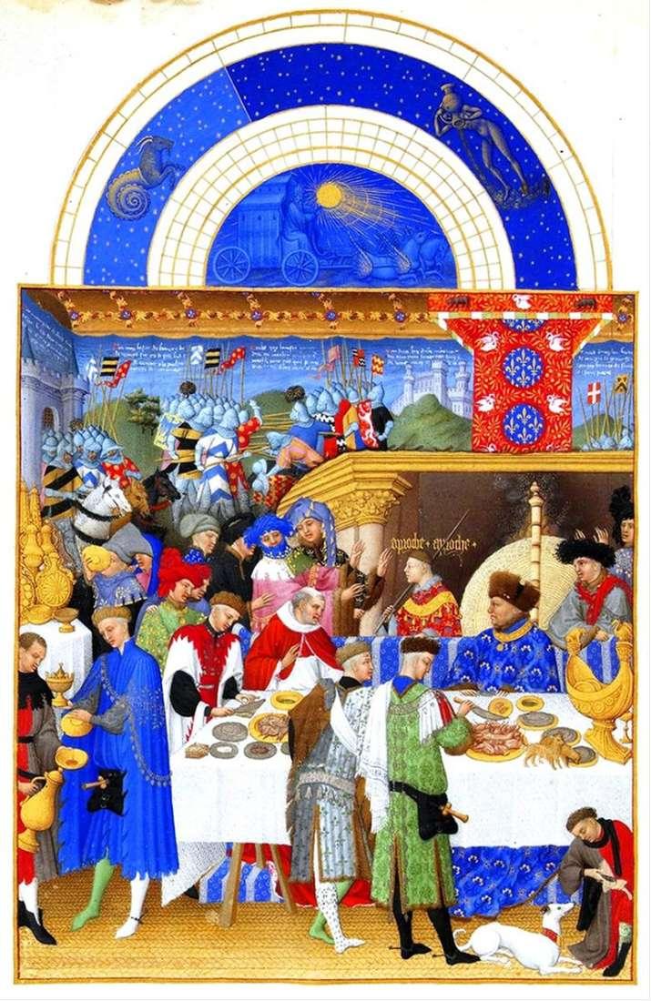 Описание картины Братьев Лимбург «великолепный часослов герцога Беррийского»