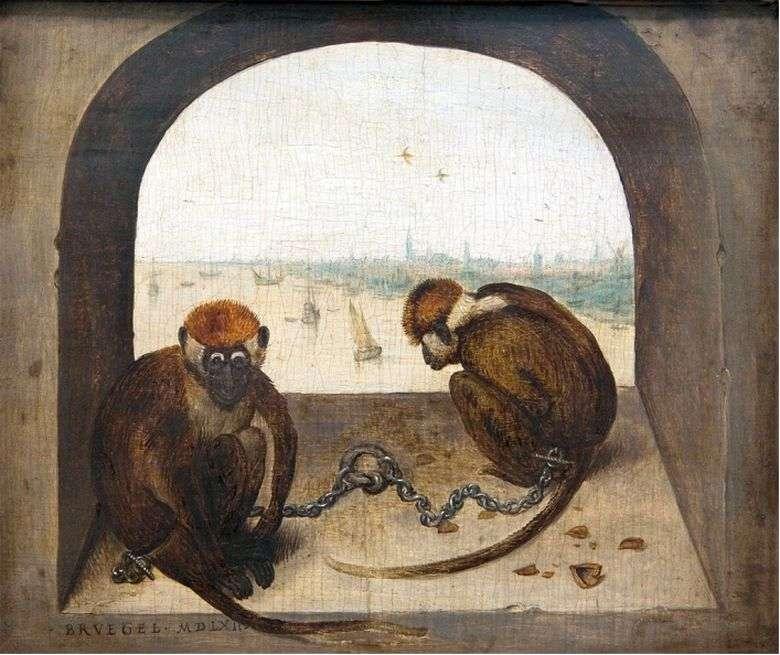 Описание картины Питера Брейгеля Старшего «Две обезьяны»