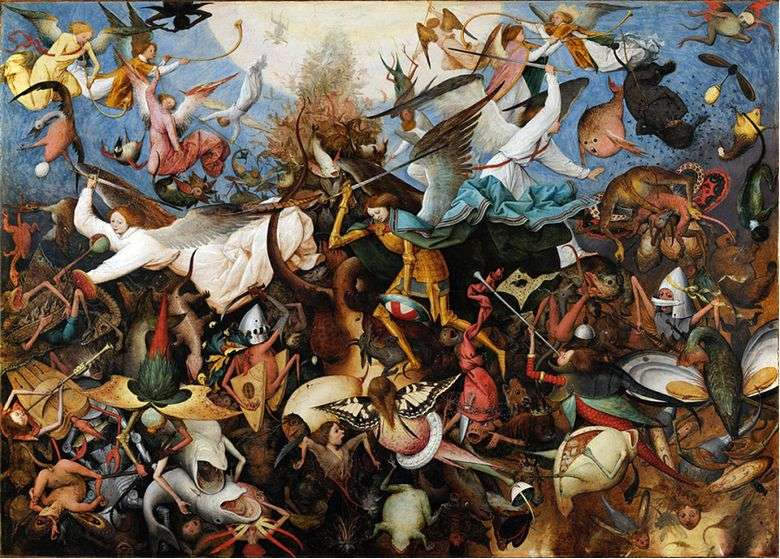 Описание картины Питера Брейгеля Старшего «Падение мятежных ангелов»