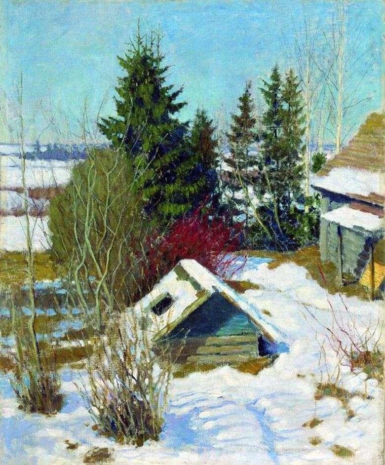 Описание картины Игоря Грабаря «Последний снег»