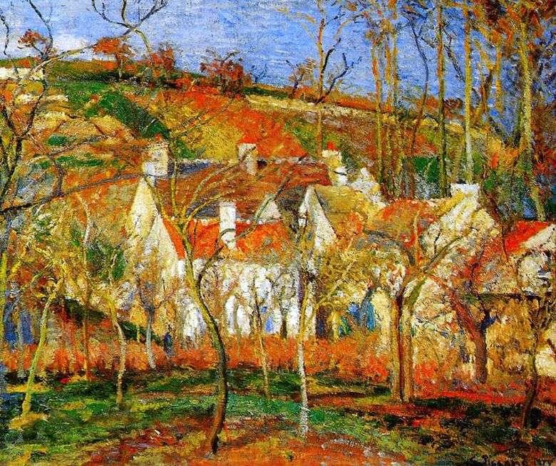 Описание картины Камиля Писсарро «Красные крыши»