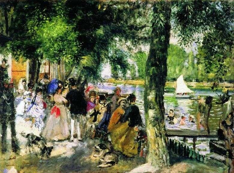 Описание картины Пьера Огюста Ренуара «Купание на Сене»