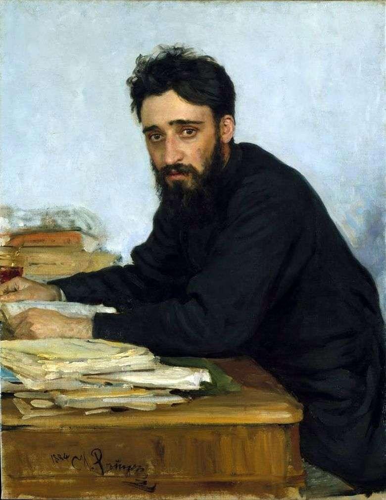 Описание картины Ильи Репина «Портрет писателя В. М. Гаршина»
