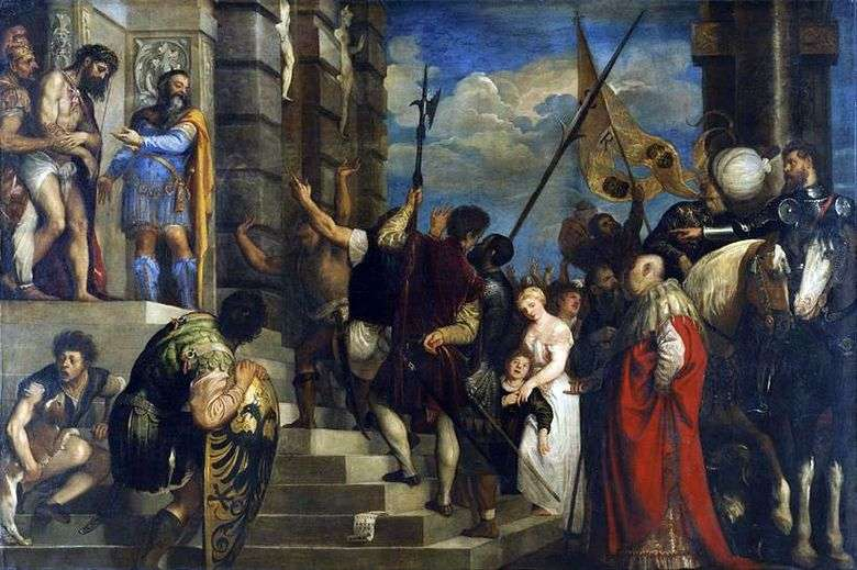 Описание картины Тициана «Се человек»