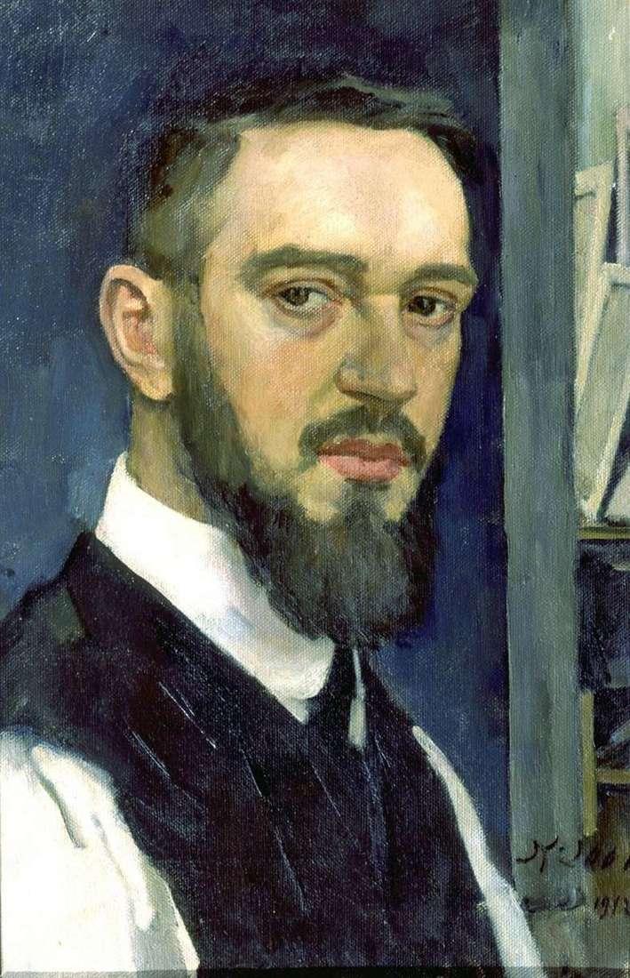 Описание картины Константина Юона «Автопортрет»