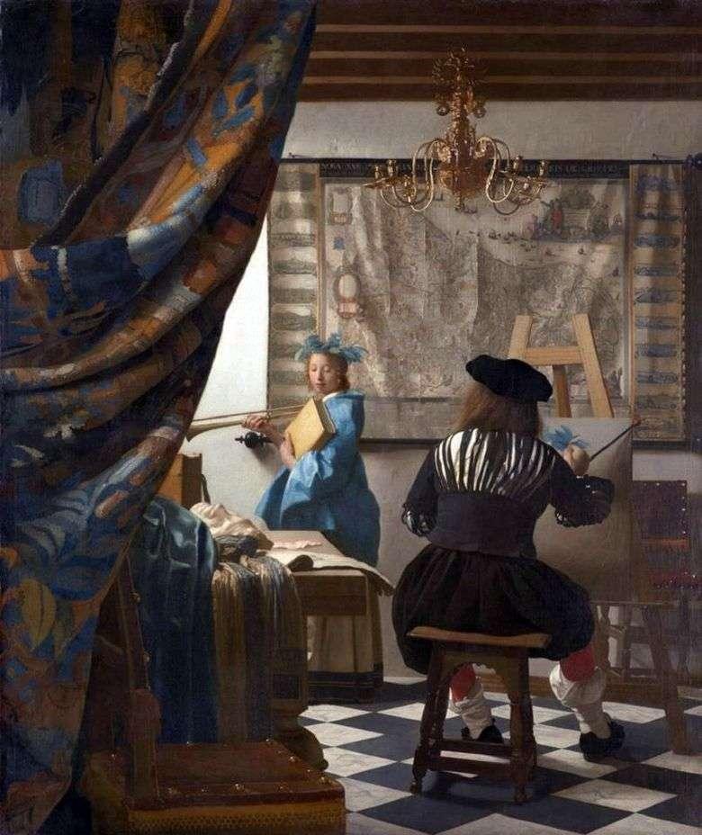 Описание картины Яна Вермеера «Мастерская художника»