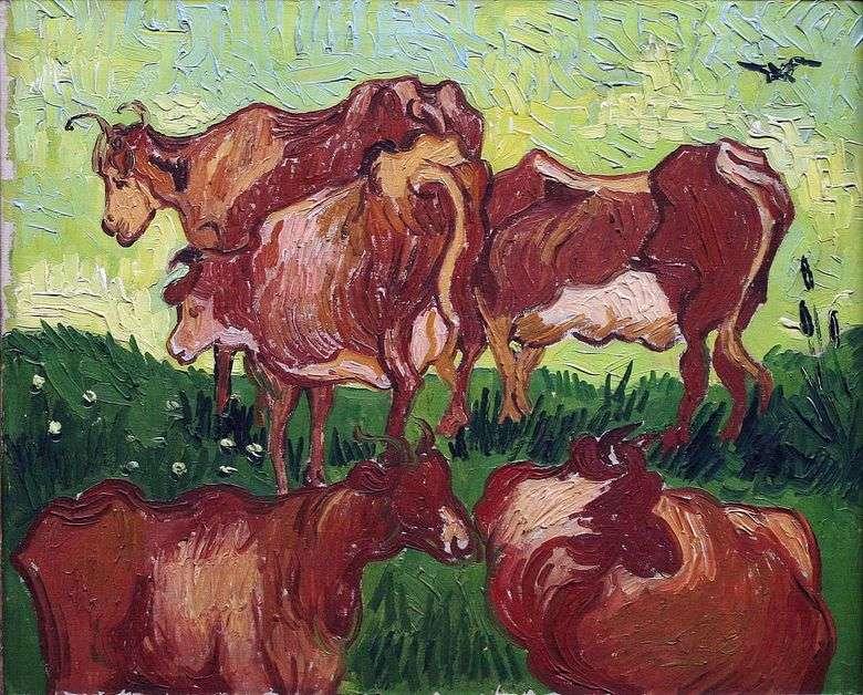 Описание картины Винсента Виллема ван Гога «Коровы»